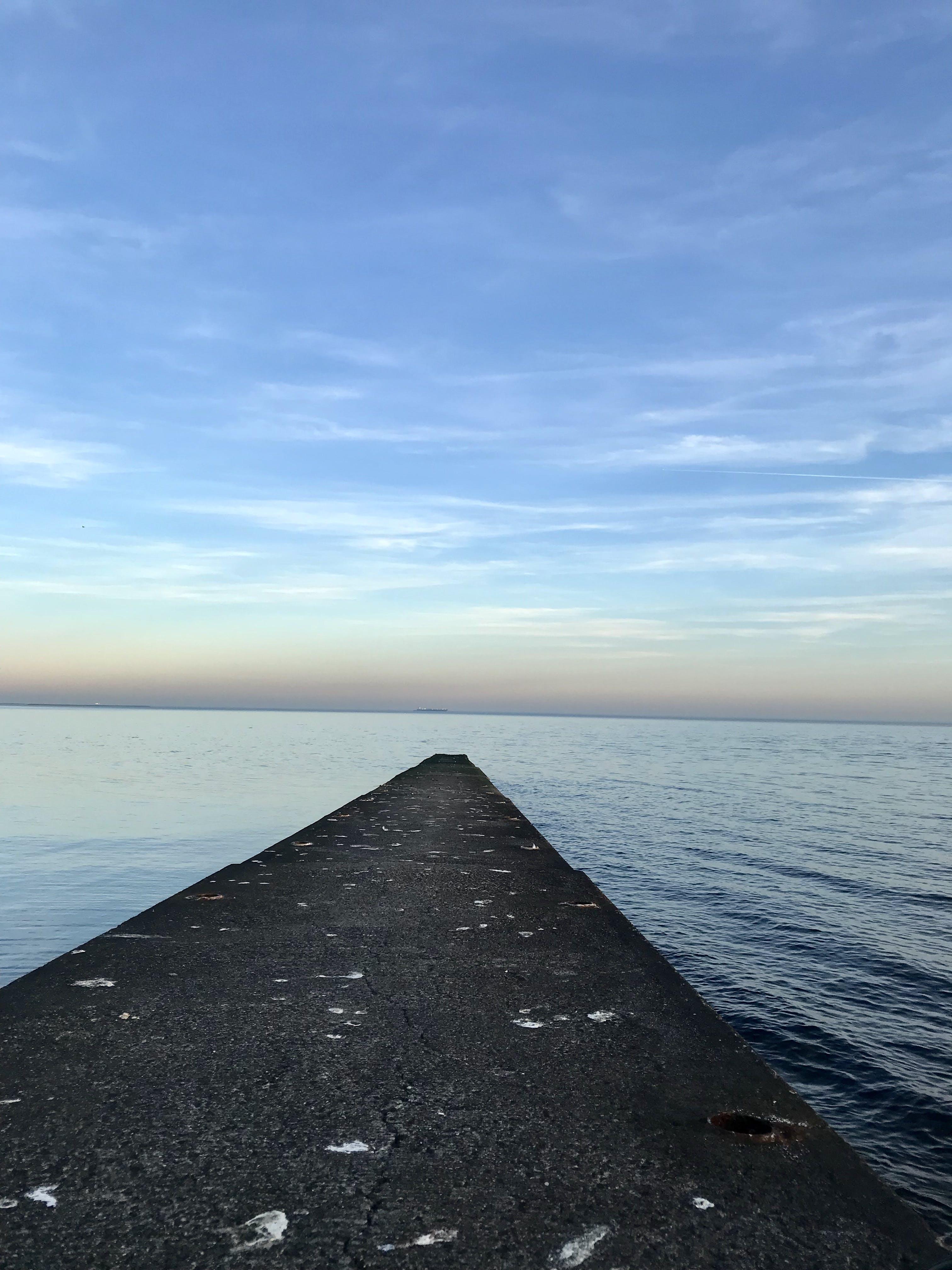 Free stock photo of dock, ocean, open water, sunset