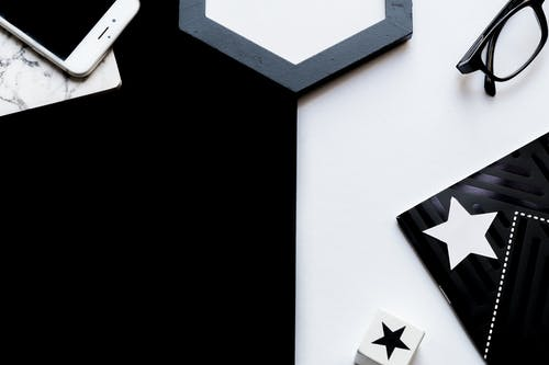 White and Black Star Wall Decor