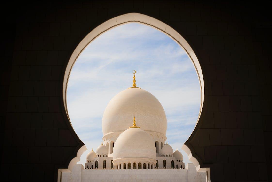 a grande mesquita, abóboda, abu dhabi