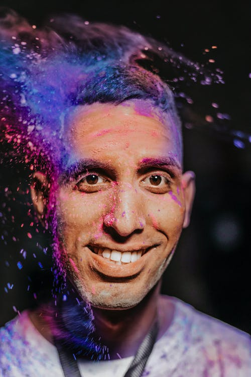Photo Of Man With Powder On His Face