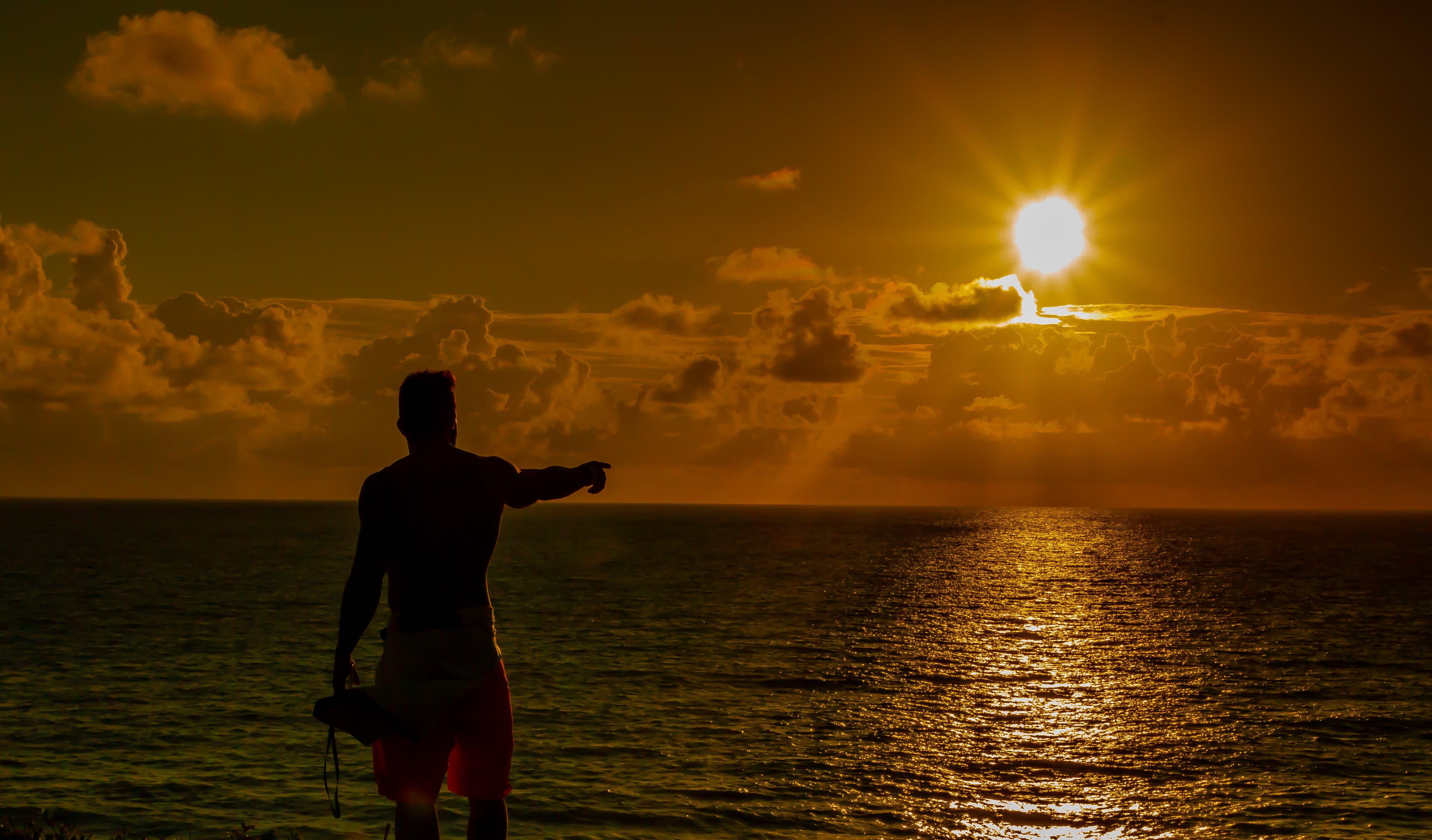 Free stock photo of golden, golden sun, paradise, sea