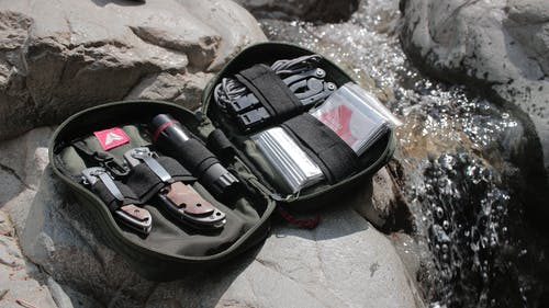 Set of Tools on Black Pouch