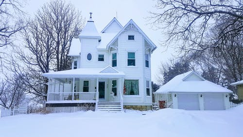 #winter #snow #cold #mn #victorian #house #cold 的 免費圖庫相片