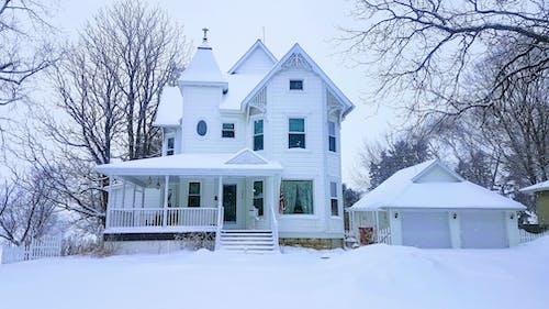 Foto profissional grátis de #winter #snow #cold #mn #victorian #house #cold
