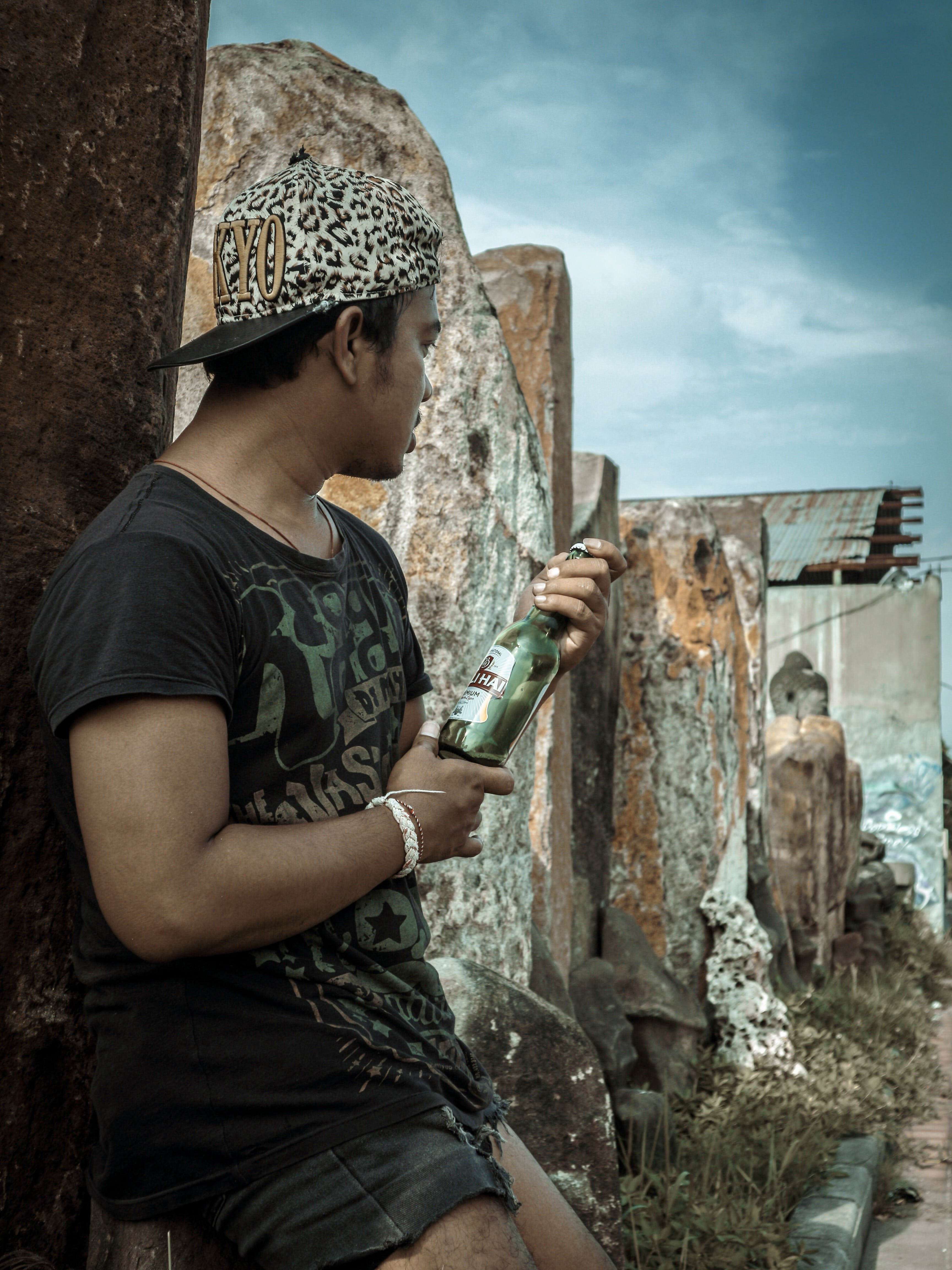 Free stock photo of alone, bali, beer, green