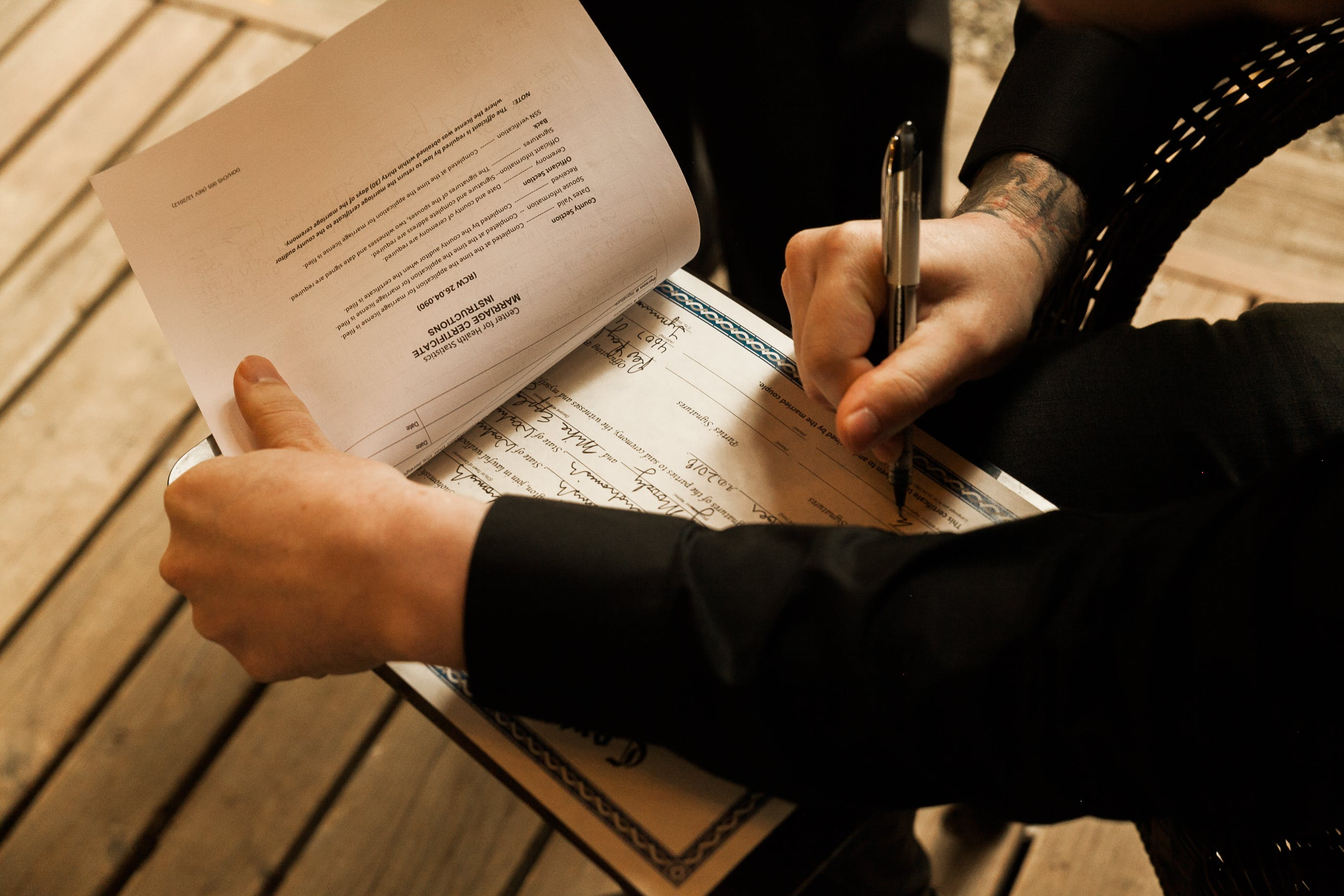 accomplishment, agreement, ball point pen