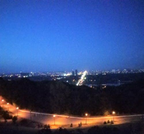 Gratis stockfoto met nacht, stadslampen