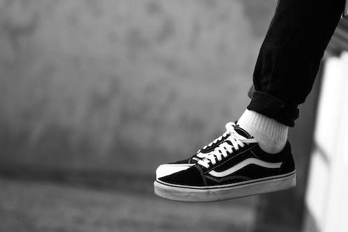Free stock photo of black shoes, vans
