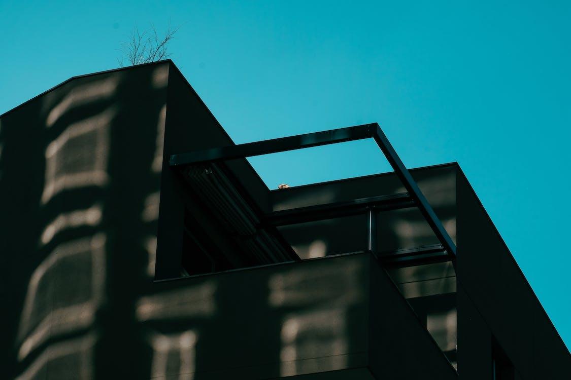 arkitektdesign, arkitektur, blå himmel