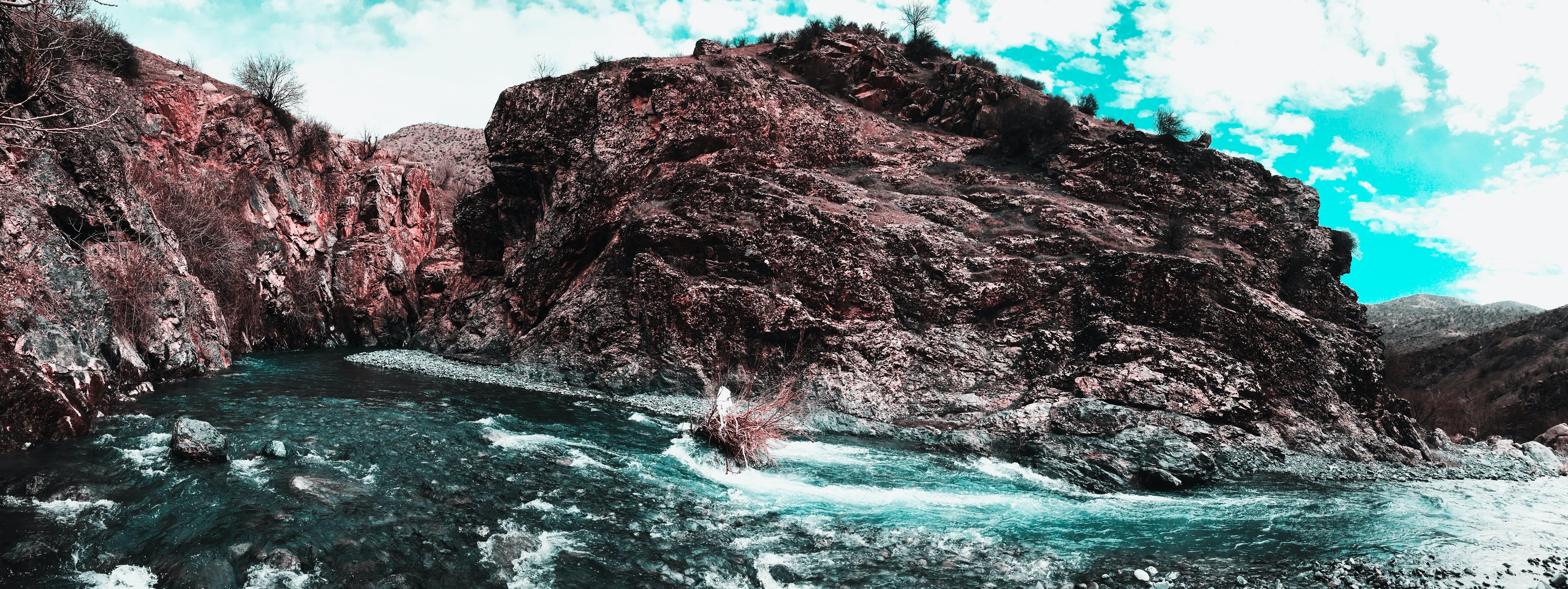 Free stock photo of 4k wallpaper, blue, blue mountains, blue sky
