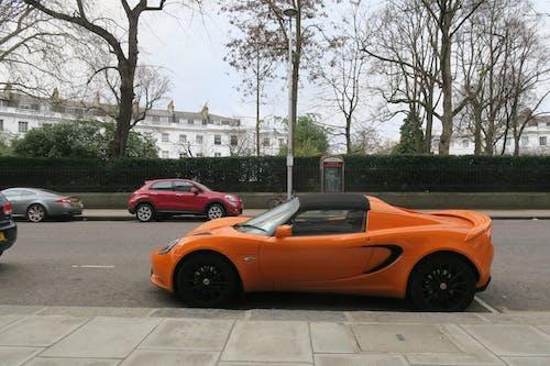 Free stock photo of car, lotus, orange car