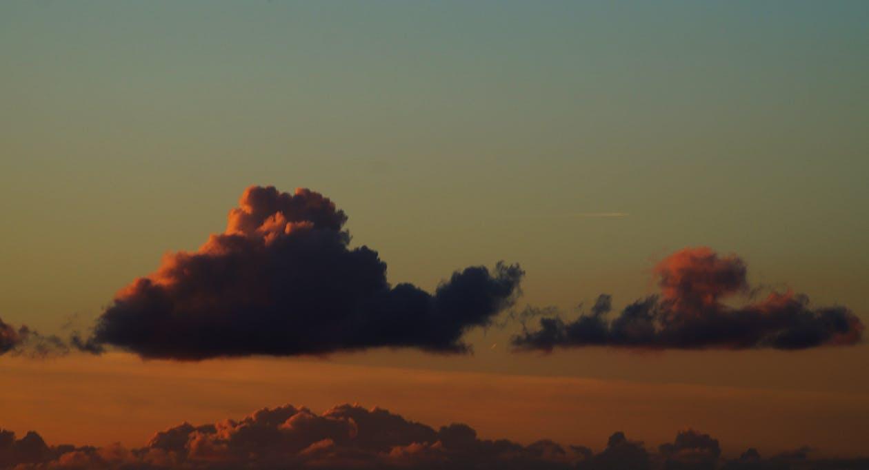 dramatický, mraky, obloha