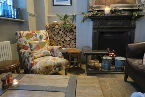 Free stock photo of cozy, fire, pub
