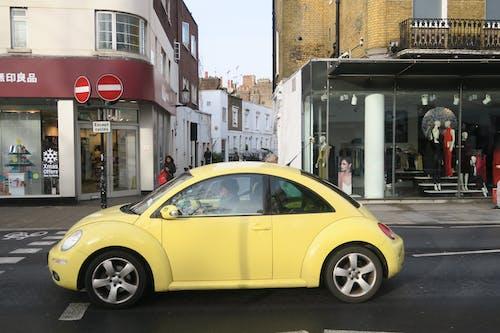 Free stock photo of Volkswagen Beetle, vw beetle, yellow, yellow car