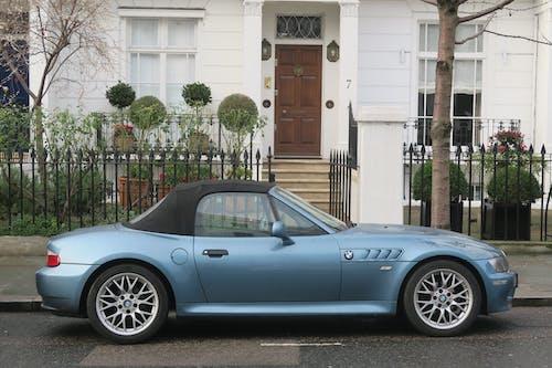 Free stock photo of blue, blue car, sports car