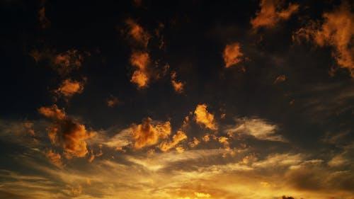 Foto stok gratis awan, bentangan awan, Fajar, formasi awan