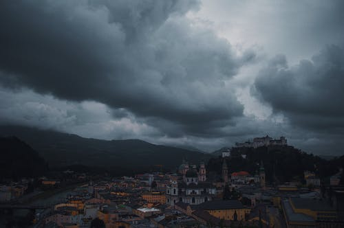 Dark Clouds Covers the Town