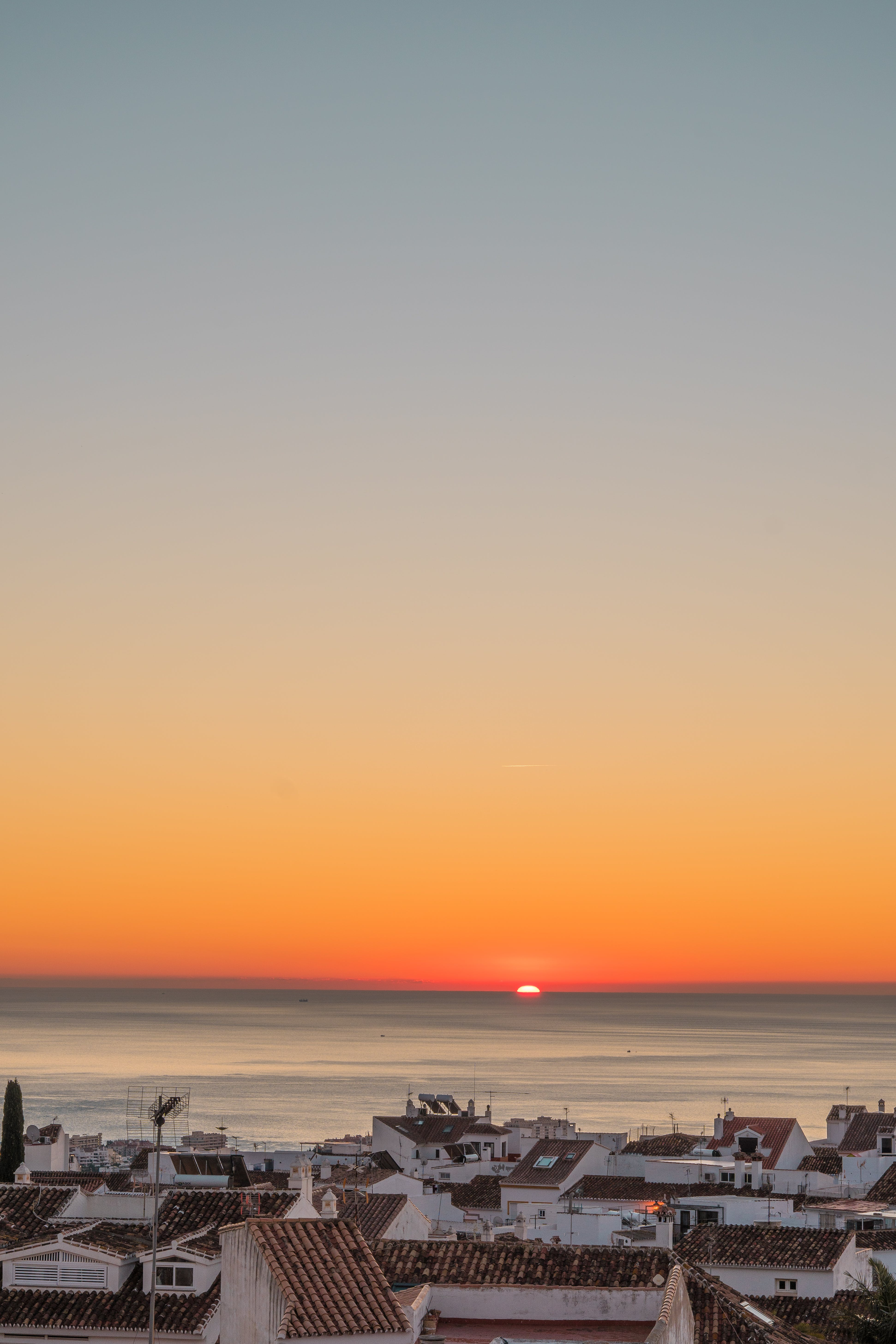 Kostenloses Stock Foto zu dämmerung, himmel, horizont, meer