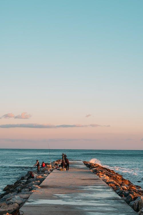Gratis lagerfoto af badebro, hav, horisont, strand
