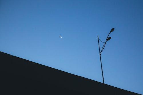 シルエット, 三日月, 夕方, 夕時の無料の写真素材