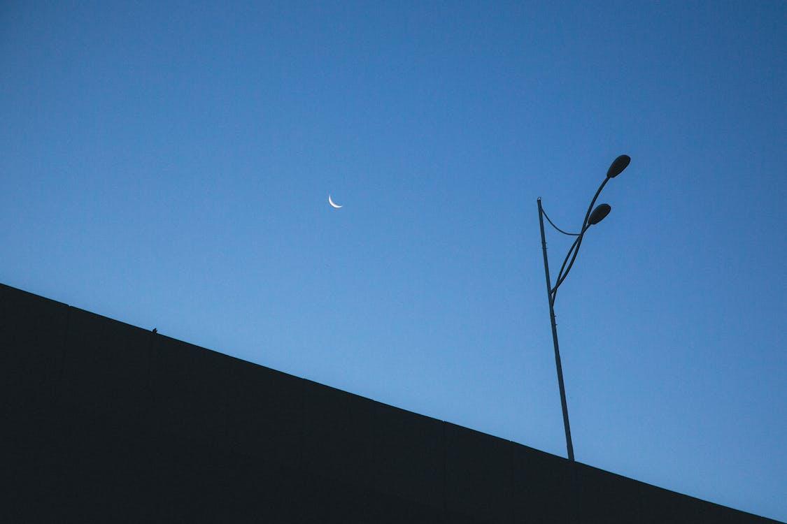 Lamp Post under Evening Sky