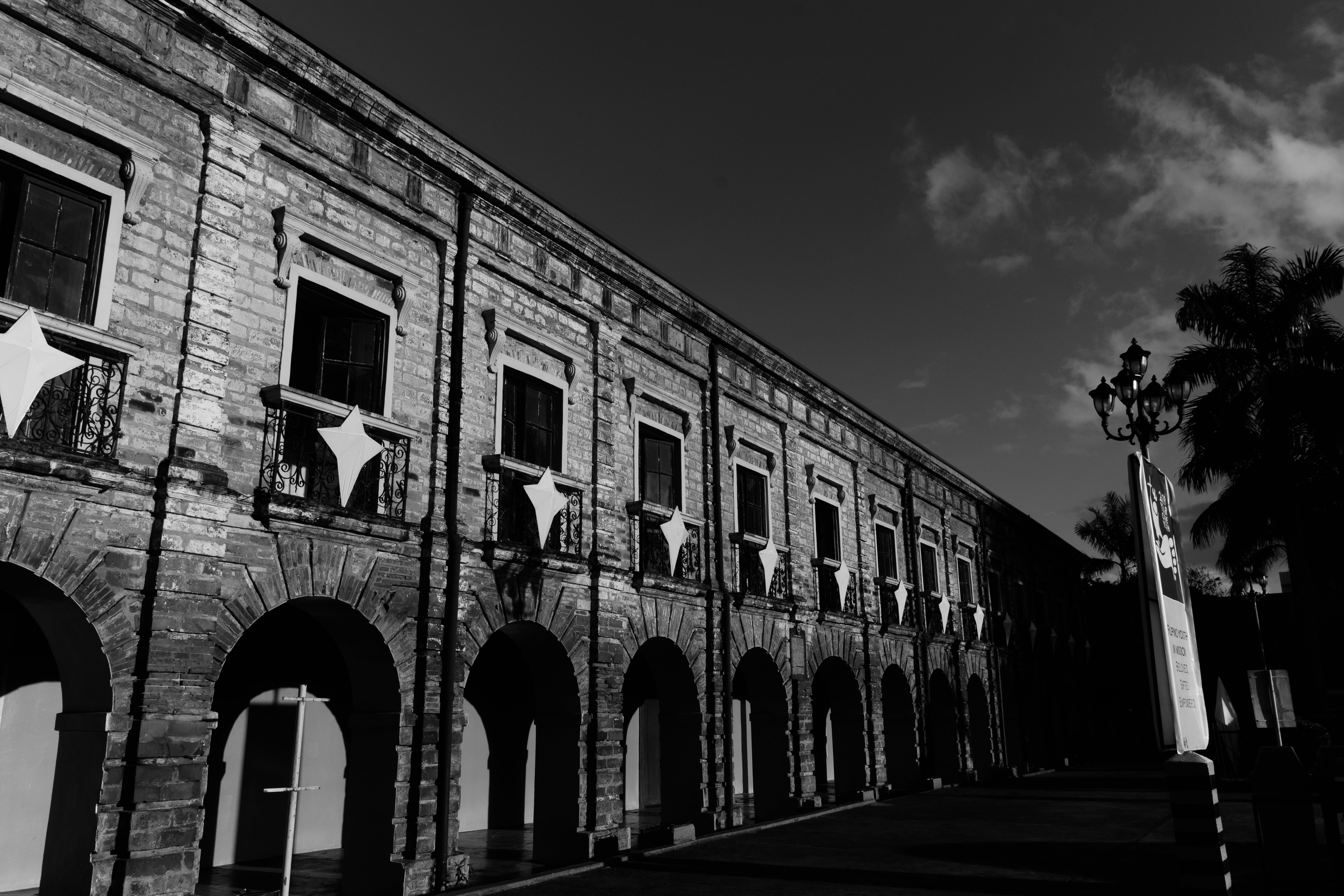Free stock photo of architectural, black and white, contrast, old building
