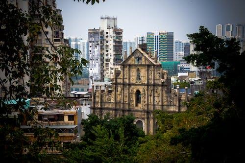 Foto profissional grátis de armação, capela, ruínas, urbano