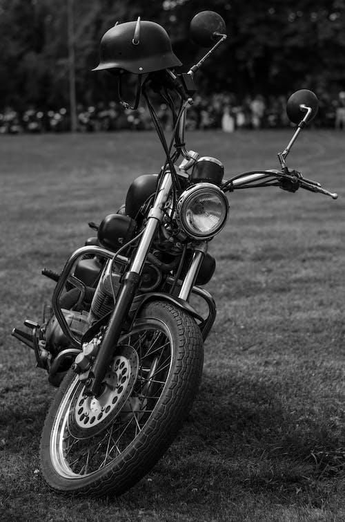 Free stock photo of beautiful, beautiful bike, biker, black and white