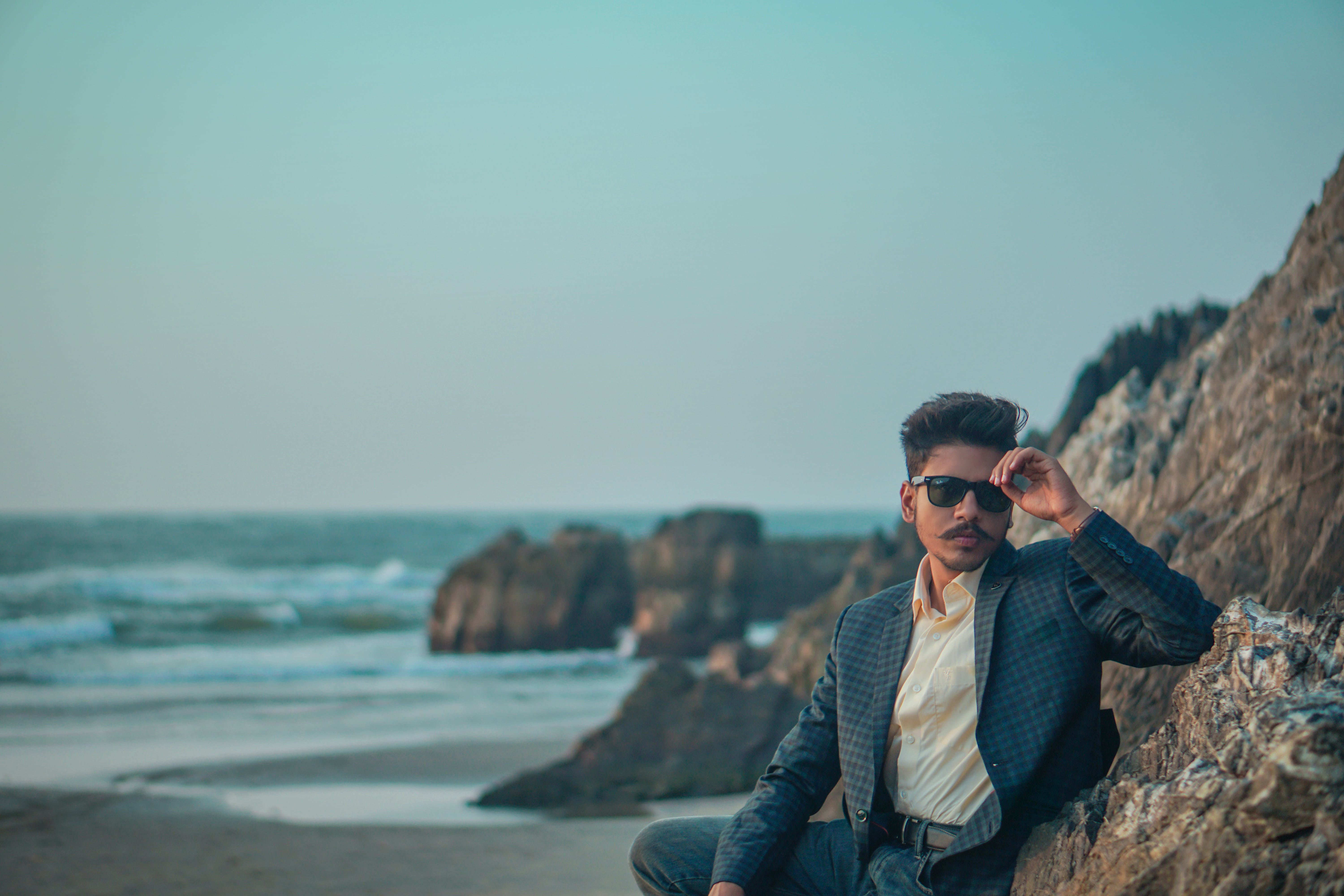Free stock photo of beach, glasses, goa, hills