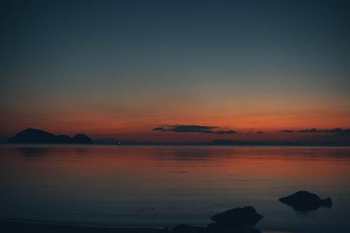 akşam, altın saat, bulutlar, deniz içeren Ücretsiz stok fotoğraf