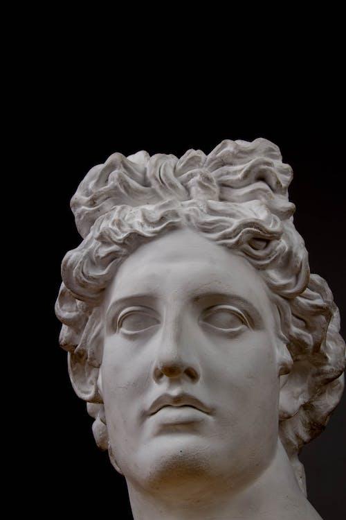 White Sculpture of  Head Bust Figurine