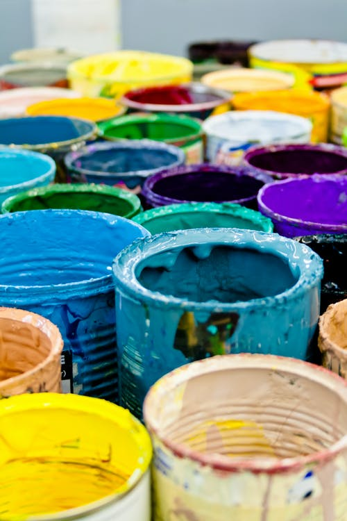 Assorted-color Paint Buckets