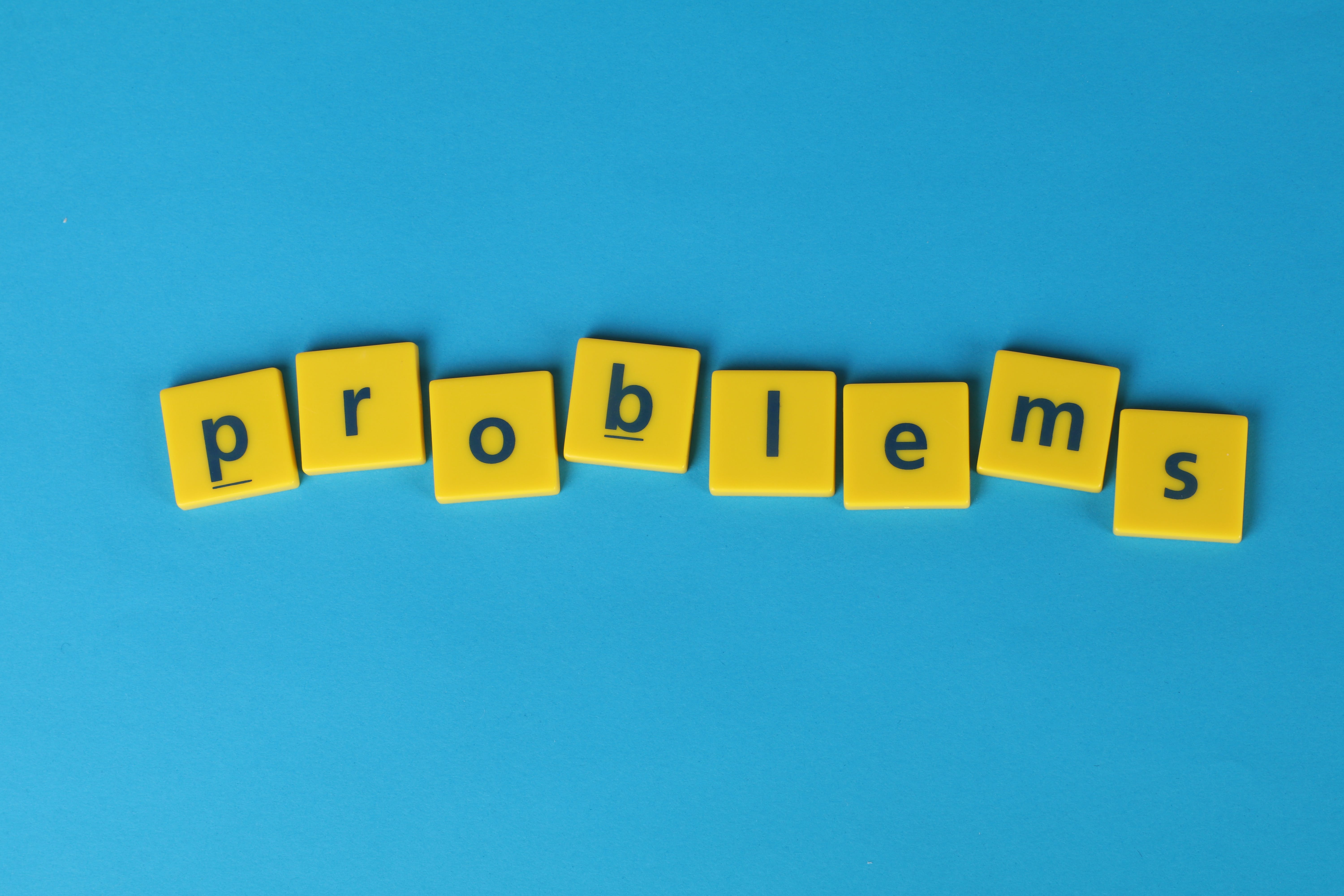 Free stock photo of blue background, problems