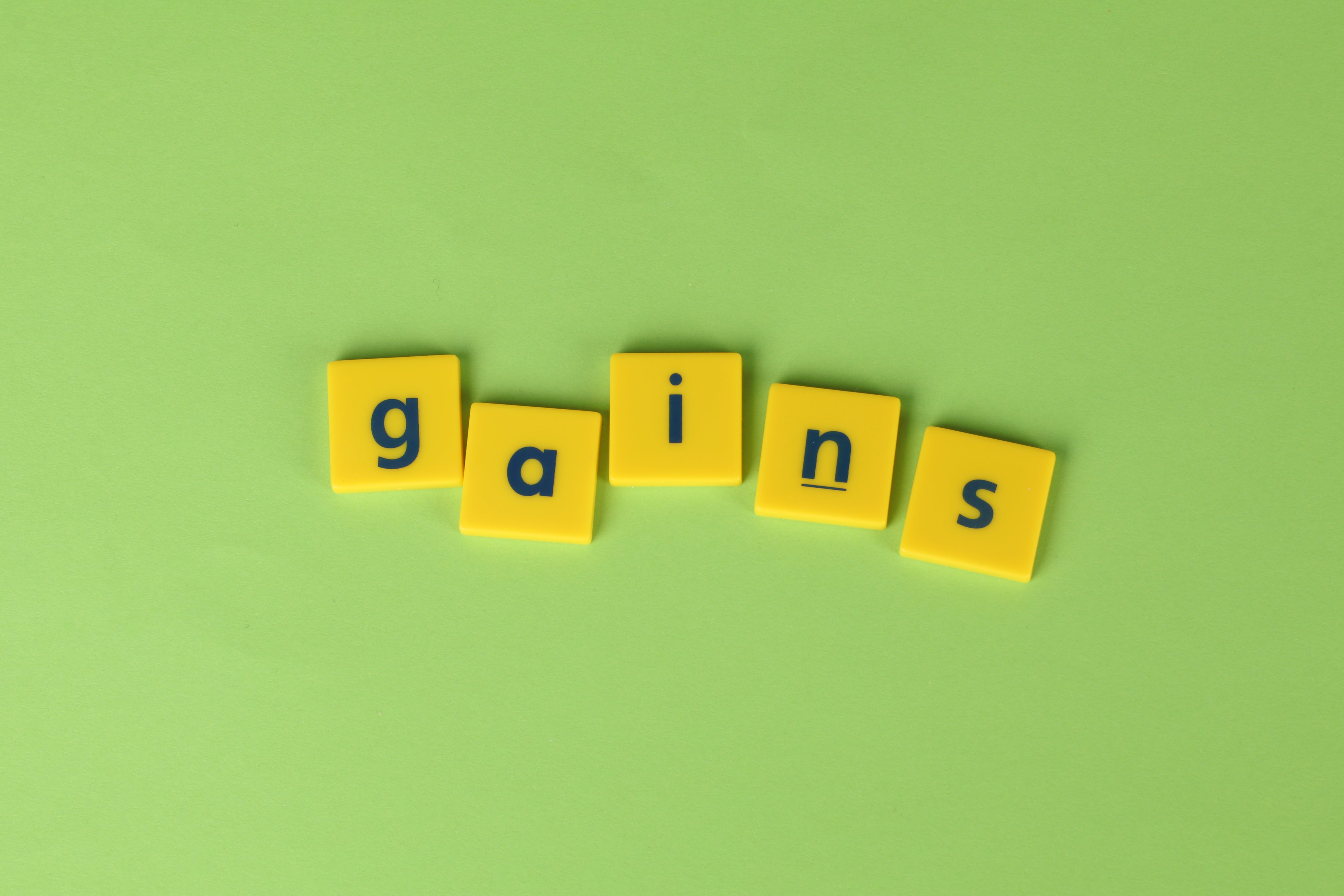 Free stock photo of gains, green background