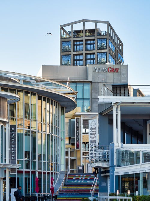 Бесплатное стоковое фото с архитектура, Балкон, блок, голубой