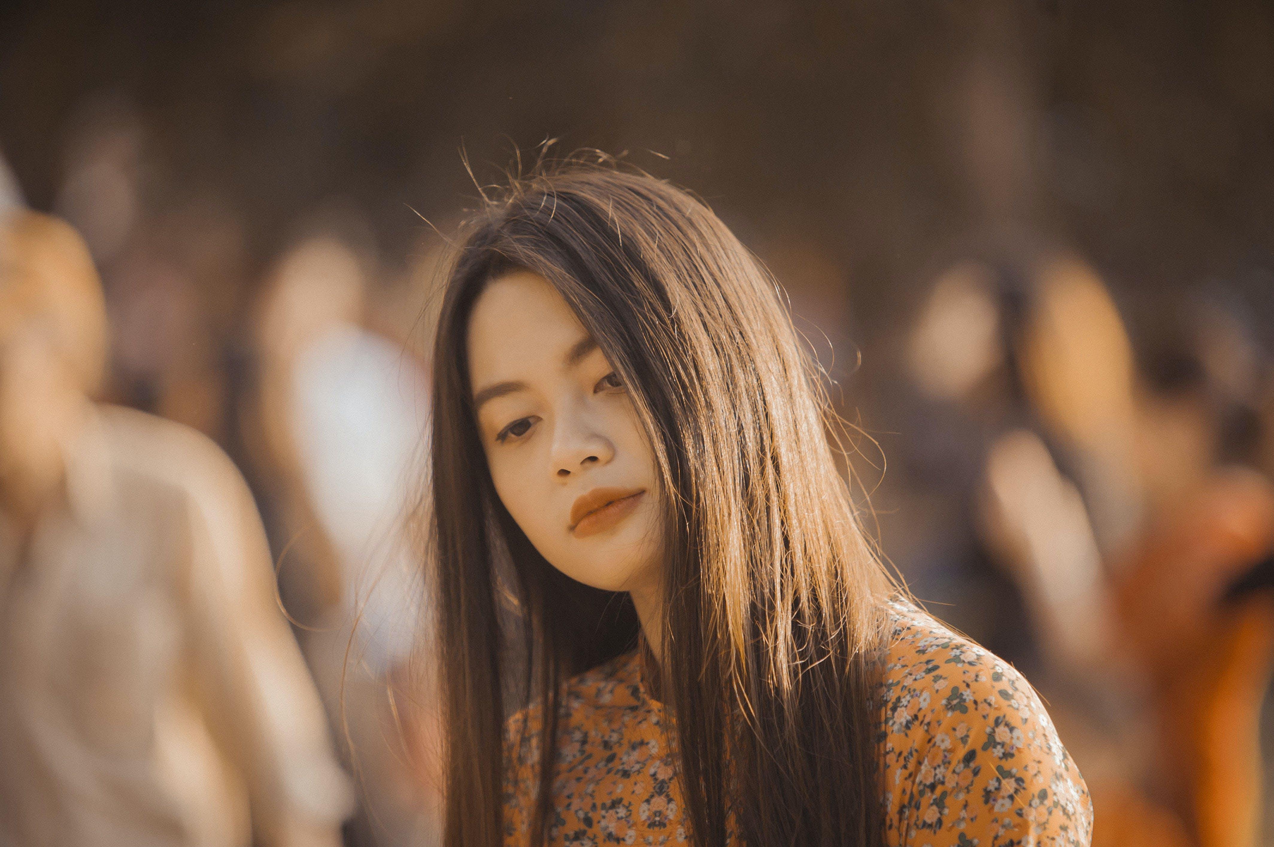 Woman Looking Downward