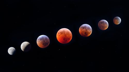 Free stock photo of astronomy, blood monn, color, dark