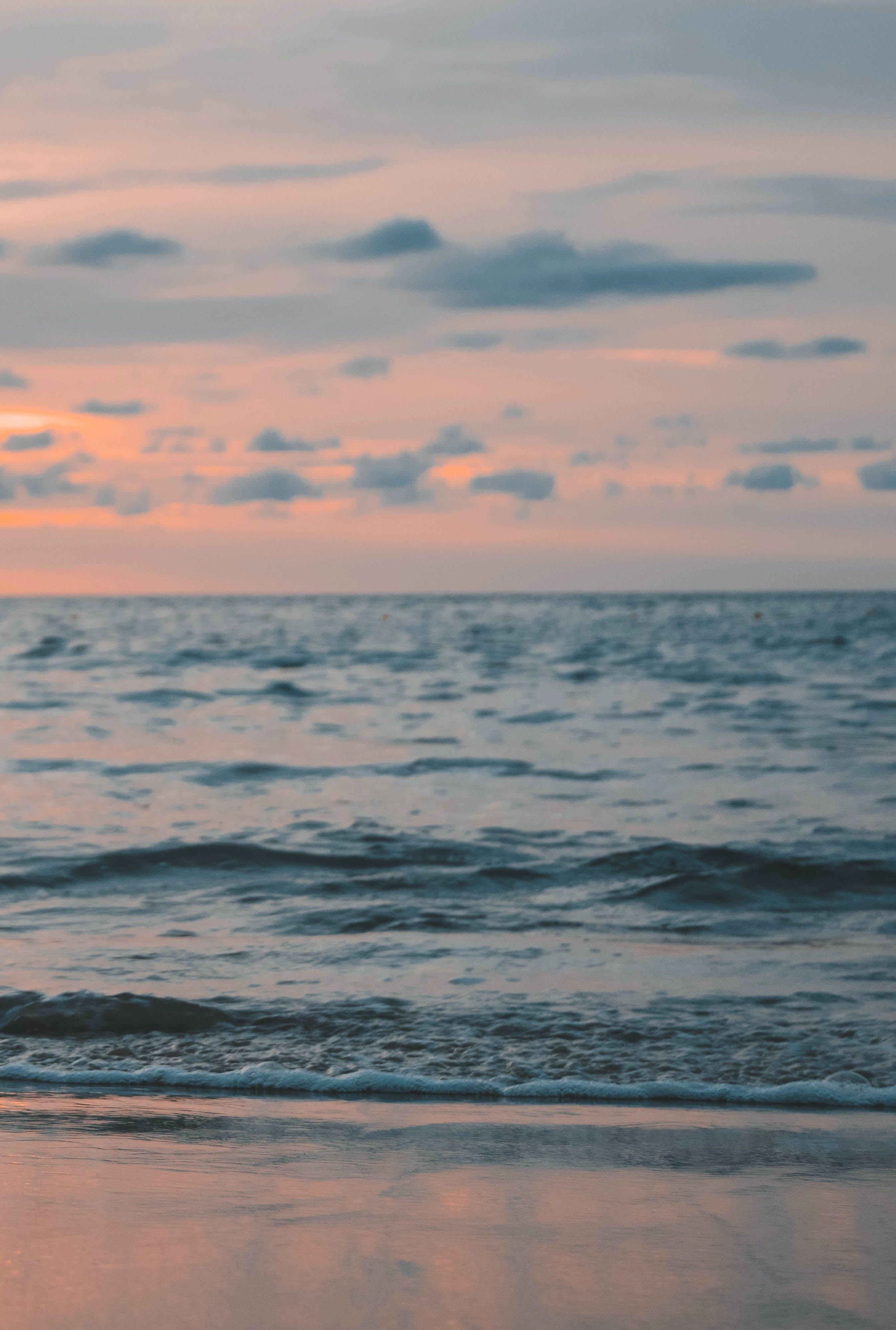 Foto profissional grátis de atraente, beira-mar, cênico, céu