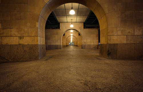 Brown and Gray Concrete Tunnel