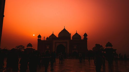 Free stock photo of Agra, india, sunset, taj mahal