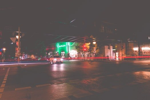 Free stock photo of city, road, lights, night