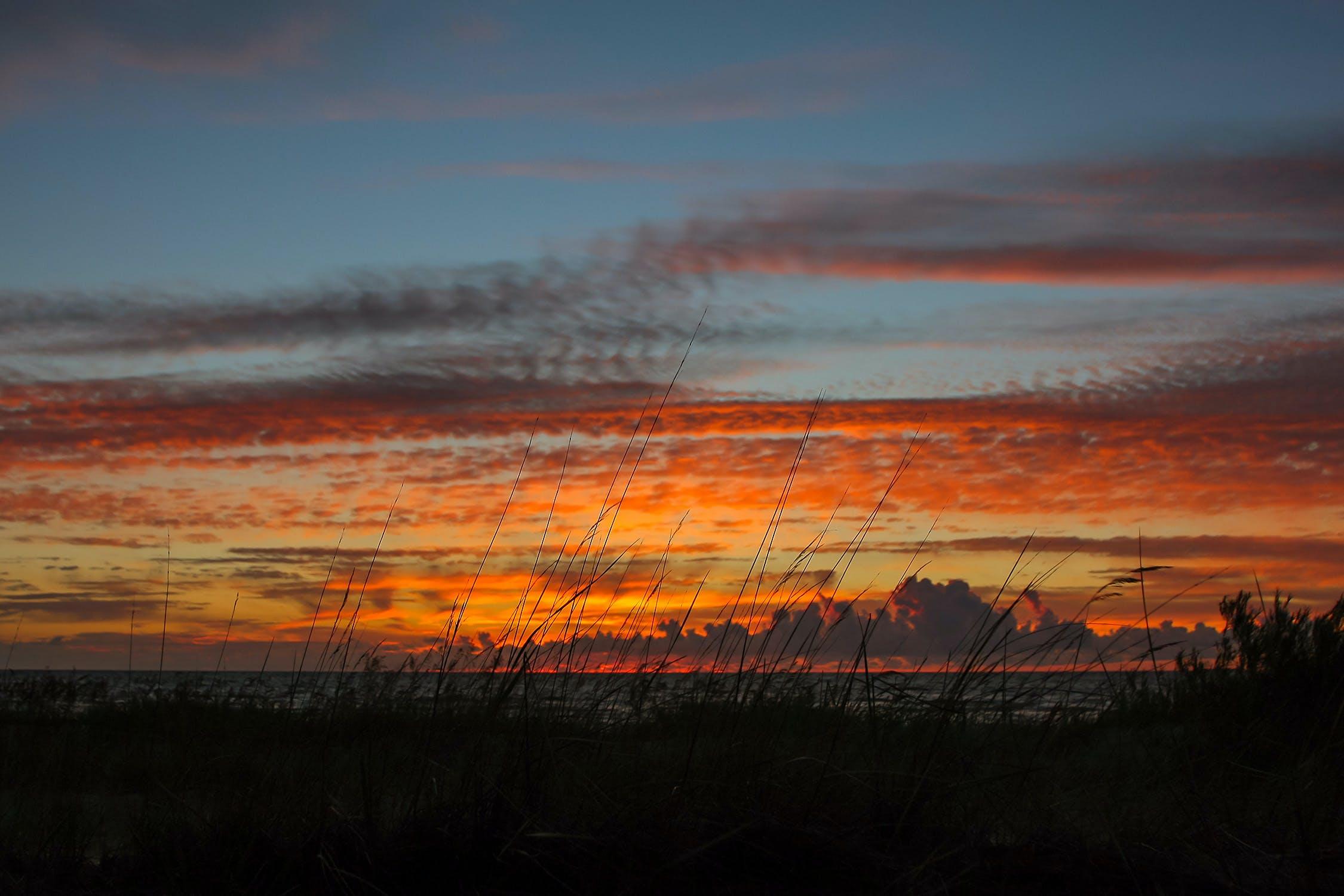 Free stock photo of sea, sky, sunset, evening