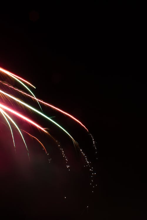 Free stock photo of dark, fireworks, flare, lights