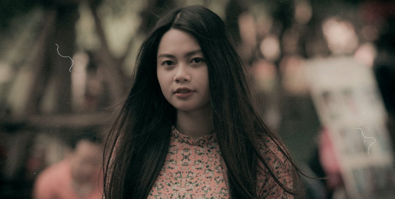 azjatycka dziewczyna, fotografia portretowa, hanoi