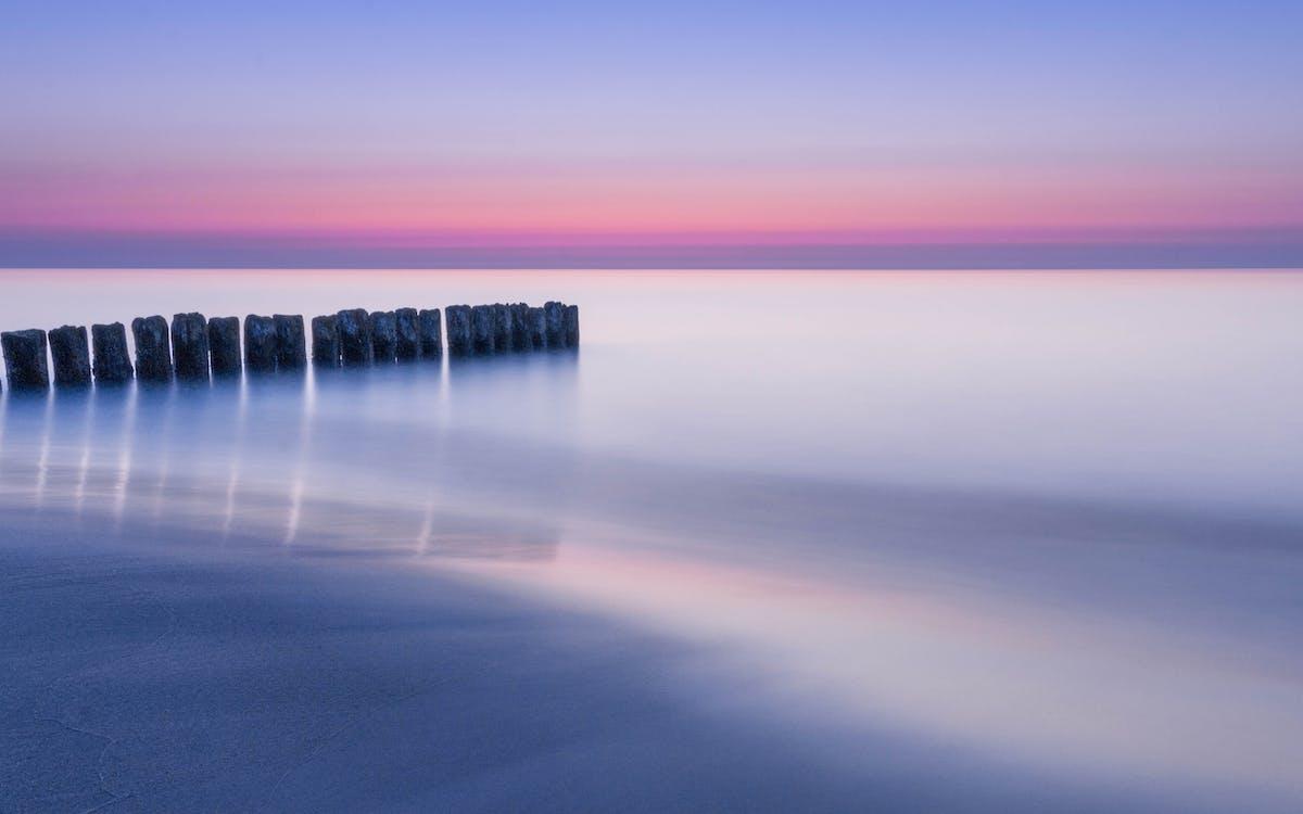 aigua, alba, horitzó