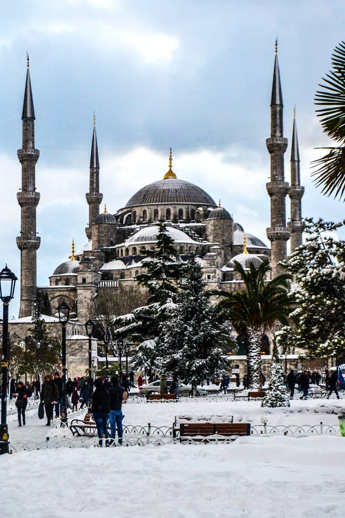 Free stock photo of #travel #mosque #snow #photo #travaller #color