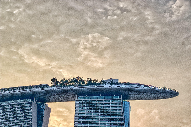 clouds, cloudscape, hotel