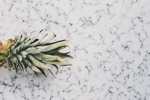 Free stock photo of pineapple, marble, fruit, golden