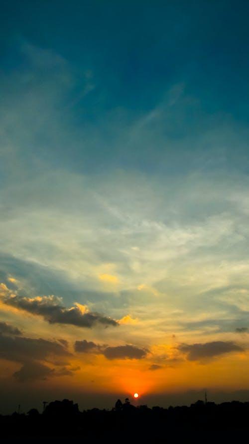 Immagine gratuita di arancia, azzurro, cielo, cloud