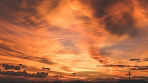 Immagine gratuita di cloud, crepuscolo, fuoco, giù